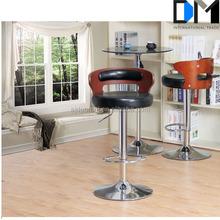 Wholesale Leather Seat Bar Stool /Modern Oak Swivel High and Wooden Bar Stools