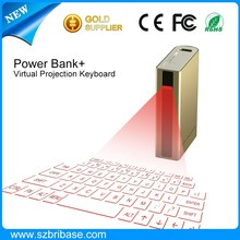 Power Bank Laser virtual Keyboard with Bluetooth for cell phones and Tablet