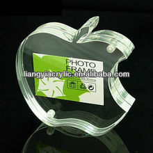 apple shaped elegant custom clear acrylic photo frames with magnets factory