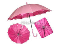 23''*16ribs Top Quality Pretty Lady Printing color Double Layer Straight Umbrella Made in Shangyu