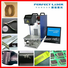 High quality 10W 20W 30W fiber laser marking machine/mark colored portrait on stainless steel