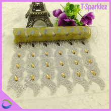 China Cheap Supplier Rhinestone Accessories Mesh Ornament
