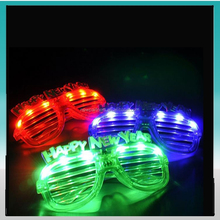 LED party glasses Light Up Slotted Shades Sunglasses - Assorted Flashing Lights