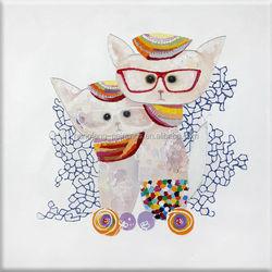 animal dog pets art painting wearing glass
