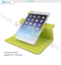 360 degree rotating leather stand tablet case for ipad mini