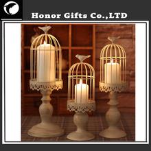 Popular Wedding Decoration Iron Bird Cage Metal Candle Holder
