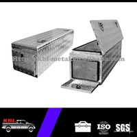 Aluminum Checker Plate Storage Tool Box/Tool Cabinet with 3 Lids for Truck Trailers OEM/ODM (ATB-1544)
