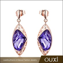 2015 OUXI earring gold plated made with Swarovski Elements 20445