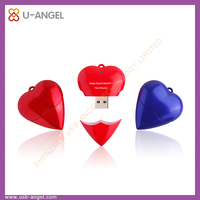 heart shape usb , love heart usb , usb flash drive heart shape