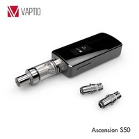 Vaptio cheap 50 watt box mod 3 pins 510 structure Ni 200 accurate temperature control electronic cigarette vaporizers