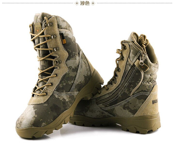 2015 High Quality Mens Tactical Police Military Army Boots Outdoor