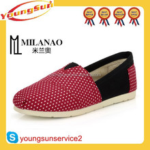 New Arrival best selling canvas shoes 2014 women flat shoes