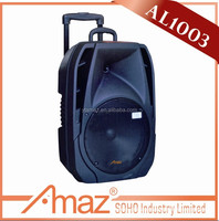 LED light mp3 music SD card 10 inch newest amplifier speaker box