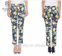 latest fashion pants, floral printed pants, functional side pockets pants