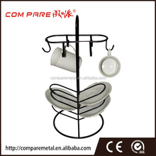 dish/coffee mug/cup powder coated display rack/stand