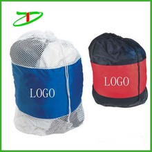 2015 custom nylon drawstring mesh bag, mesh bag for clothes