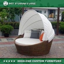 round rattan outdoor furniture sunbed