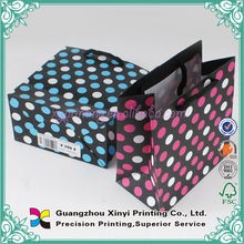 Hot shopping samll colorful baby clothes paper bag with spot