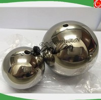 steel ball with tap hole/ different holes stainless steel sphere