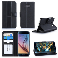 2015 Alibaba Customs PU Leather High Quality Mobile Phone Case For Samsung S6