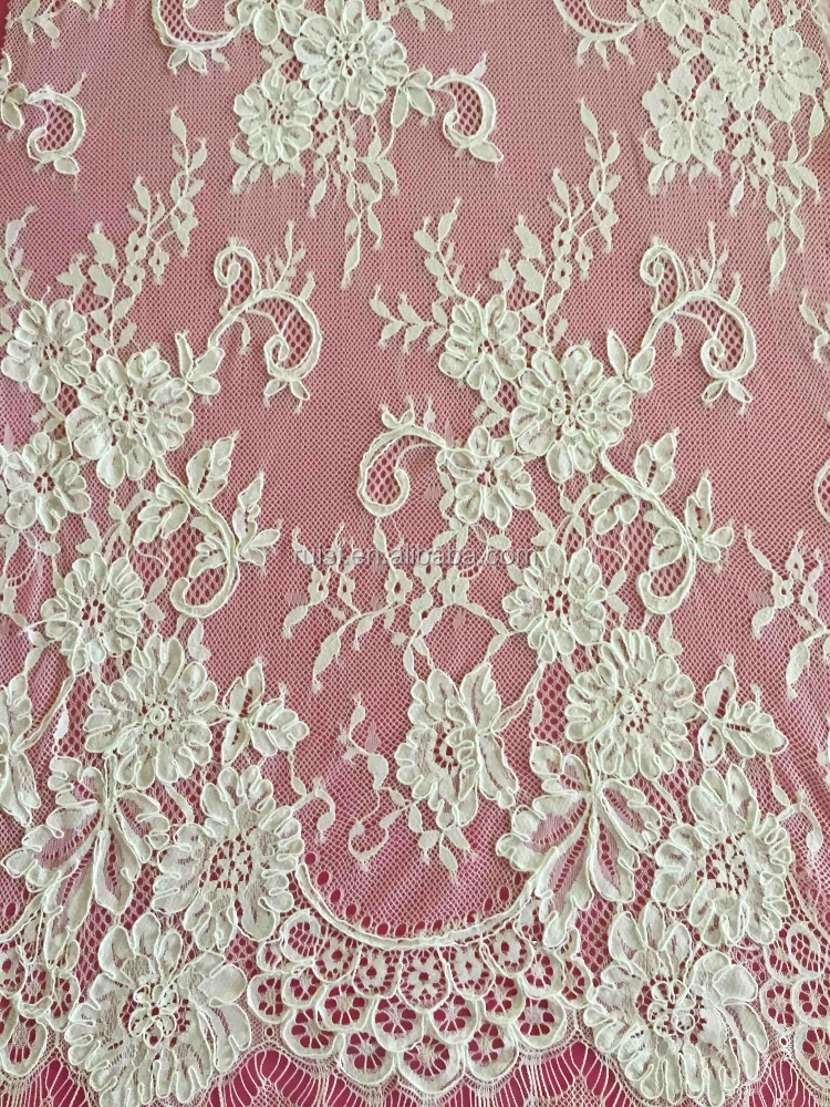 2015 high quality tulle lace fabric guipure lace fabric for Bridal fabric