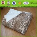 ขายดีร้อนคุณภาพการออกแบบเสือดาวผ้าห่มขนfaux
