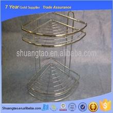 Useful Durable hot metal bathroom corner rack, iron wire bathroom shelves, bathroom hanging wall shower shelves