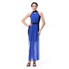 Fashion Cocktail Dress Chiffon Fabric Wholesale Blue Dress