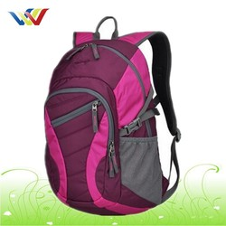2015 Outdoor backpack with zippers pockets for holding more things
