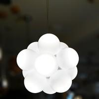 Custom Made Modern Opal White Glass Children Kid Room LED Balloon suspension light,M9150