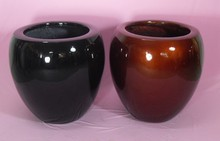 HuaWei Black Color and Red Color Garden Three Sets Spherical Flower and Tree Pot