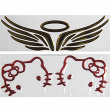 3D PVC wings car sticker for car LOGO decoration and cover scratch
