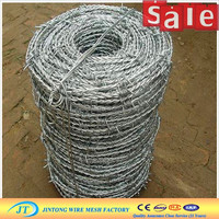 high carbon 1.6mm security barbed fence / Spiral Barbed wire