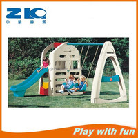 Factory direct selling kids plastic slide and swing