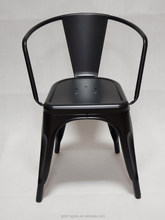 GA103C-45ST modern black powder coating dining chair for indoor and outdoor used