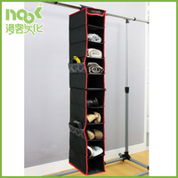 Black Red Samsonite 10 tier Closet Shelf Organizer hanging box with side pocket