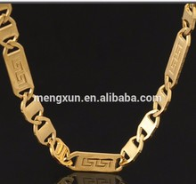 18K Real Gold Filled Classical Figaro Necklace Stainless Steel Chains 18K stamp Men Women Necklace