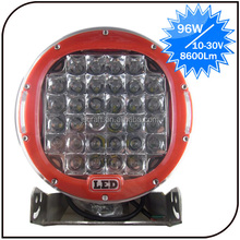 Warranty 2 year 12-30V 9 inch spot beam off road light 96W motorcycle led drive light