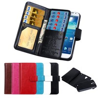 BRG Multi-function Magnet Detachable Wallet Leather Case Cover for Samsung Galaxy S4