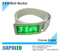 2015 Fashionable digital programmable lighter rhinestone scrolling led belt buckle(manufacturer&wholesale)