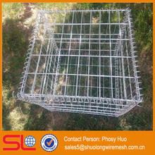 ISO 9001 factory supply hot-dipped galvanized welded wire mesh panel 2000mmx1000mmx500mm gabion box for fence