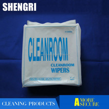 Eco-Friendly 9x9 Inches 55% Cellulose (wood pulp) 45% Polyester Fiber Cleanroom Polyester Wiper