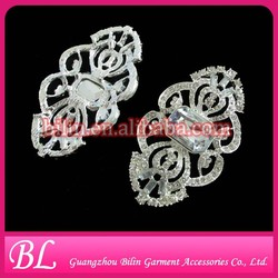 38*68mm silver crystal rhinestone brooch for invitation