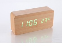 YIWU newest led digital wooden alarm clock wholesale