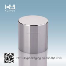 CAP-03 bright silver UV perfume plastic cap with PP insert for perfume bottle