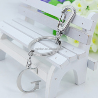 Wholesale Factory Stainless steel accessory keychain and keyring with G
