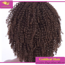 popular hairsyle virgin human hair short afro curly wigs for black women in Africa