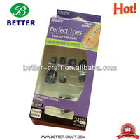 New colored wholesale best qulaity artificial toe nails