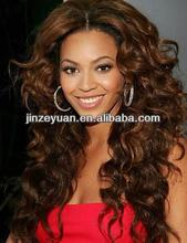 """Beyonce style 24"""" color #4 deep wave middle part 100% brazilian full lace human hair wigs"""