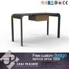 Modern shaped office computer table/wooden executive office furniture desk
